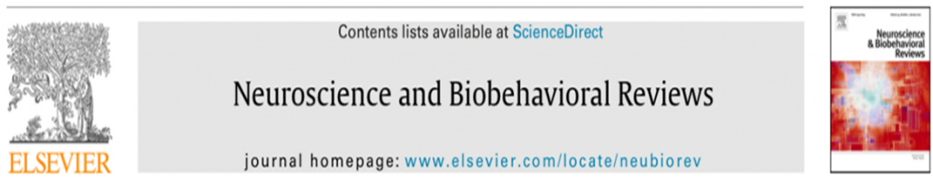 Neuroscience and Biobehavioral Reviews journal banner